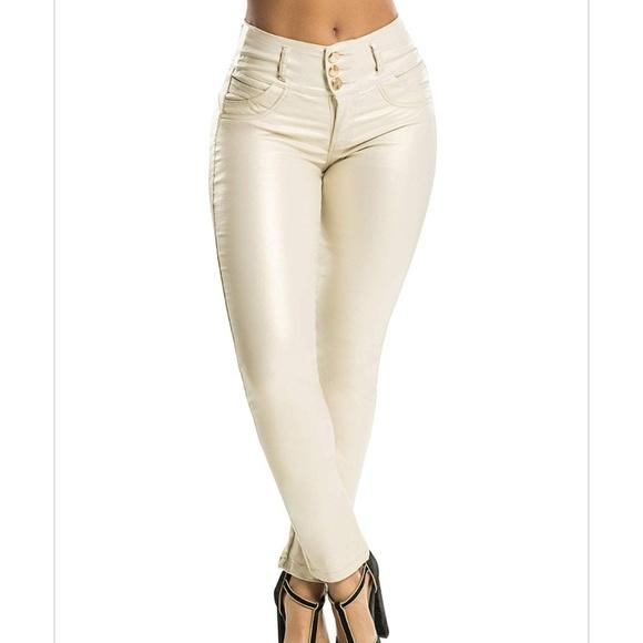 322825cae2a191 Curvify Pants | Nwtwomens White Faux Leather Sz 6 | Poshmark
